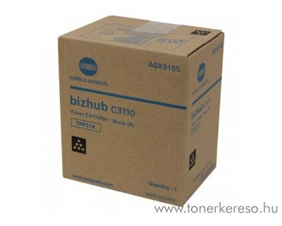 Minolta Bizhub C3110 (TNP51K) eredeti black toner A0X5155 Konica Minolta Bizhub C3110  fénymásolóhoz