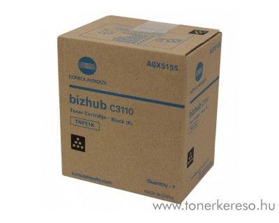 Minolta Bizhub C3110 (TNP51K) eredeti black toner A0X5155