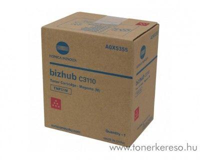Minolta Bizhub C3110 (TNP51M) eredeti magenta toner A0X5355