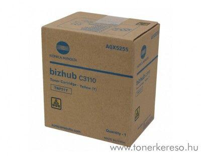Minolta Bizhub C3110 (TNP51Y) eredeti yellow toner A0X5255 Konica Minolta Bizhub C3110  fénymásolóhoz