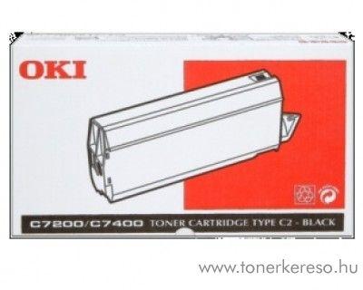 Oki C7200 eredeti fekete black toner 41304212 Oki C7400 lézernyomtatóhoz