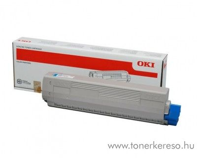 Oki C823/C833/C843 eredeti cyan toner 46471103 Oki C823n lézernyomtatóhoz