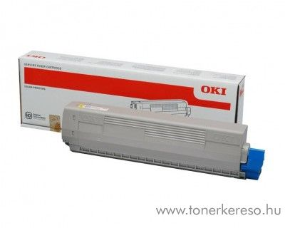 Oki C823/C833/C843 eredeti yellow toner 46471101 Oki C833n lézernyomtatóhoz