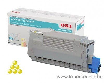 Oki ES7470/ES7480 eredeti yellow toner 45396213 OKI ES7470dfn lézernyomtatóhoz
