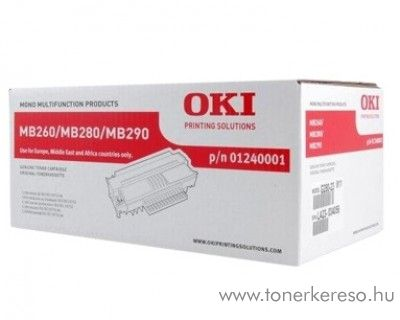 Oki MB260/280/290 eredeti fekete black toner 01240001 Oki MB280 lézernyomtatóhoz