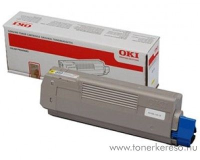 Oki MC851/861Y eredeti yellow toner 44059165 Oki MC851CDXN lézernyomtatóhoz