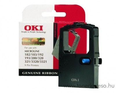 Oki ML182/183/192 eredeti black szalag 09002303 OKI ML-321 Elite mátrixnyomtatóhoz
