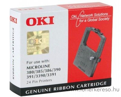 Oki ML380/390 eredeti black szalag 09002309 OKI ML-390 mátrixnyomtatóhoz