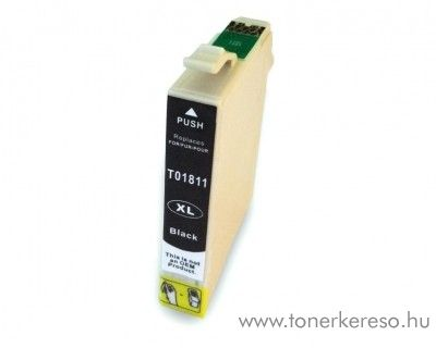 Epson T1811 utángyártott 18XL fekete tintapatron RBT1811 Epson Expression Home XP-405 tintasugaras nyomtatóhoz