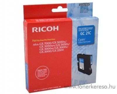 Ricoh GX5050/7000 (GC21C) eredeti cyan tintapatron 405533