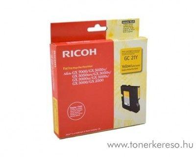 Ricoh GX5050/7000 (GC21Y) eredeti yellow tintapatron 405535