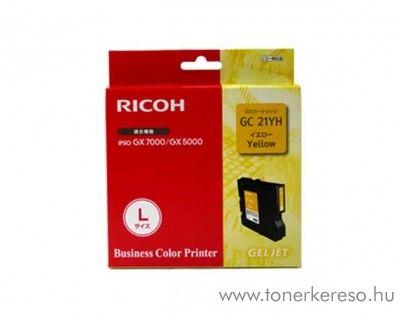 Ricoh GX5050/7000 (GC21YH) eredeti yellow tintapatron 405539