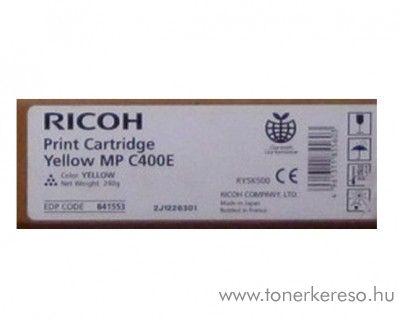 Ricoh MPC400E eredeti yellow toner 841553