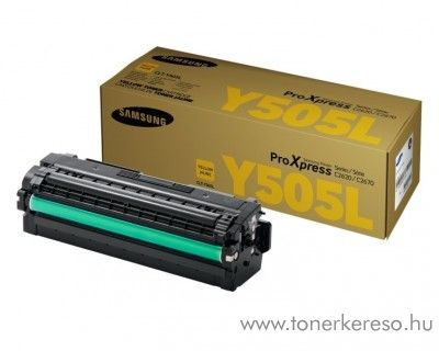 Samsung C2620DW/C2670FW eredeti yellow toner CLT-Y505L Samsung SL-C2620DW lézernyomtatóhoz