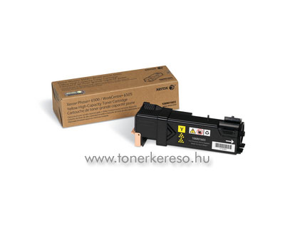 Xerox 106R01603 yellow lézertoner (Phaser 6500/6505) nagykapacit Xerox Phaser 6500 lézernyomtatóhoz