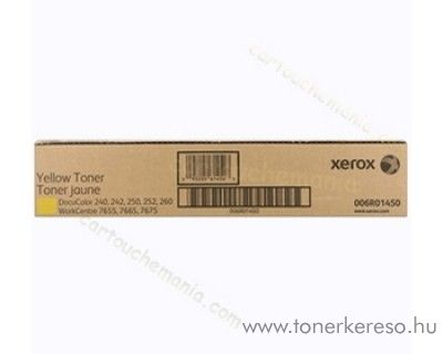 Xerox WC 7655/7665/7675 2db eredeti yellow toner 006R01450